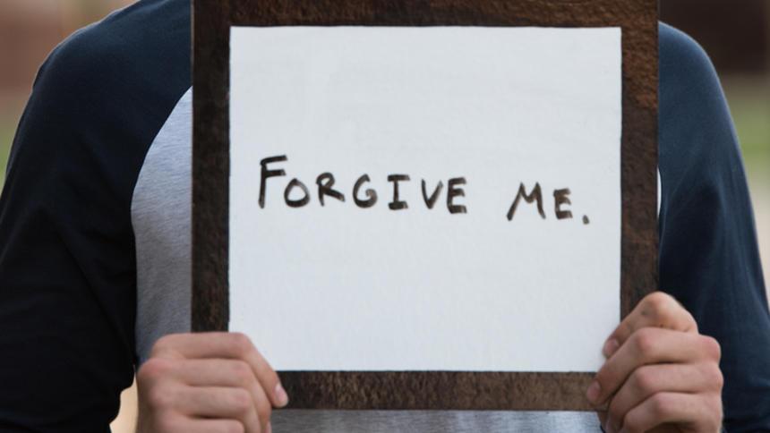 Forgive me sign